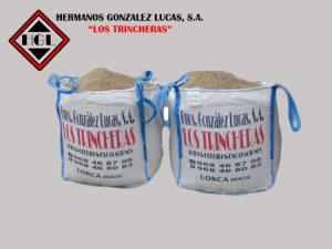Sacas big-bag de Áridos y Gravas para la construcción