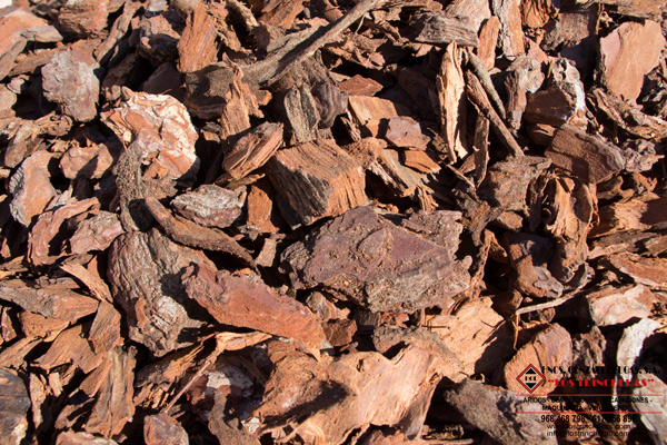 Corteza de pino decorativa para jardines