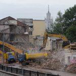 Trabajos previos para la demolición de edificios